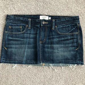 A&F jean skirt